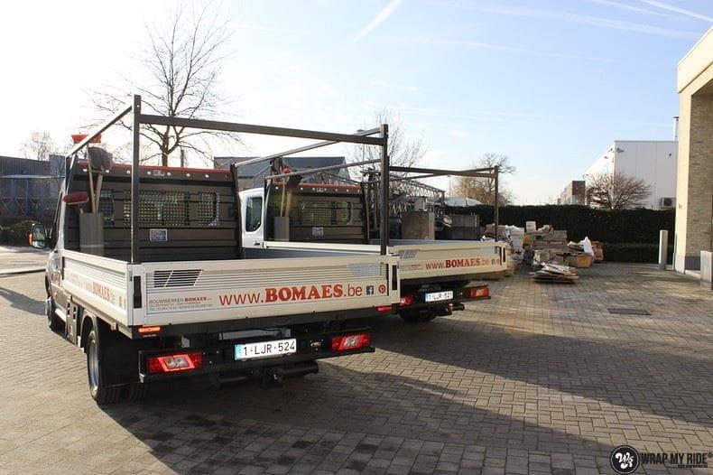 Ford Transit bedrijfswagens voor Bomaes, Carwrapping door Wrapmyride.nu Foto-nr:8657, ©2018