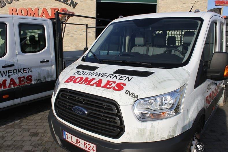Ford Transit bedrijfswagens voor Bomaes, Carwrapping door Wrapmyride.nu Foto-nr:8656, ©2021