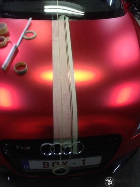 Audi TTS matte red chrome, Carwrapping door Wrapmyride.nu Foto-nr:8871, ©2020