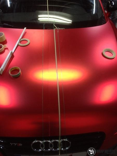 Audi TTS matte red chrome, Carwrapping door Wrapmyride.nu Foto-nr:8872, ©2020