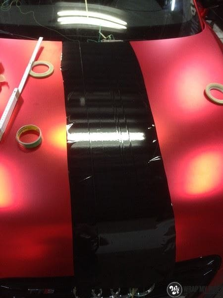 Audi TTS matte red chrome, Carwrapping door Wrapmyride.nu Foto-nr:8873, ©2020