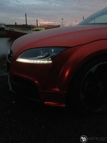 Audi TTS matte red chrome, Carwrapping door Wrapmyride.nu Foto-nr:8877, ©2020
