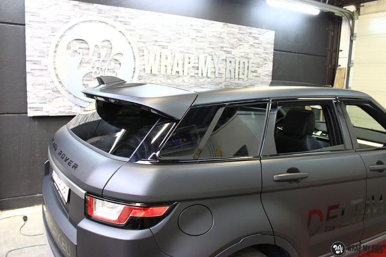 Range Rover Evoque 2016 mat  zwart Deltaworx, Carwrapping door Wrapmyride.nu Foto-nr:8772, ©2020