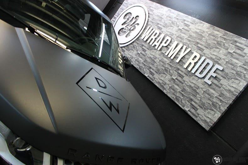 Range Rover Evoque 2016 mat  zwart Deltaworx, Carwrapping door Wrapmyride.nu Foto-nr:8770, ©2020