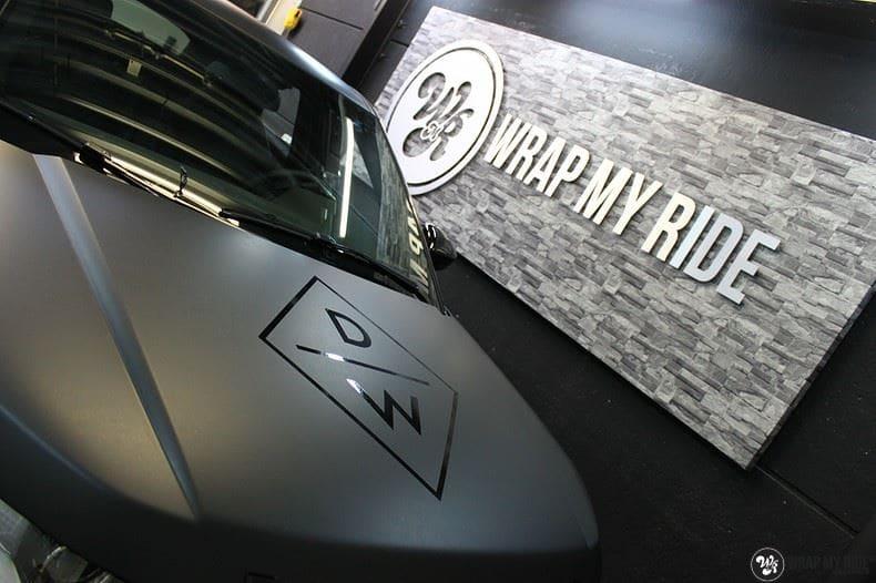 Range Rover Evoque 2016 mat  zwart Deltaworx, Carwrapping door Wrapmyride.nu Foto-nr:8769, ©2020