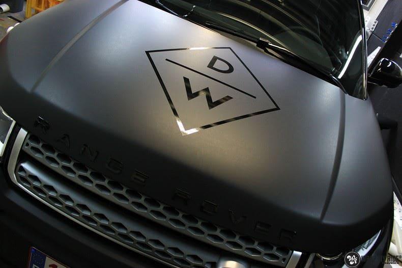 Range Rover Evoque 2016 mat  zwart Deltaworx, Carwrapping door Wrapmyride.nu Foto-nr:8766, ©2020