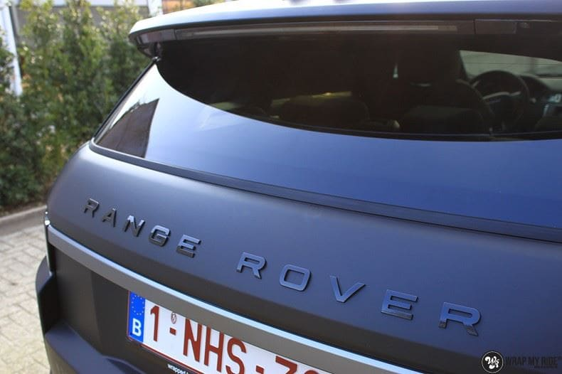 Range Rover Evoque 2016 mat  zwart Deltaworx, Carwrapping door Wrapmyride.nu Foto-nr:8760, ©2020