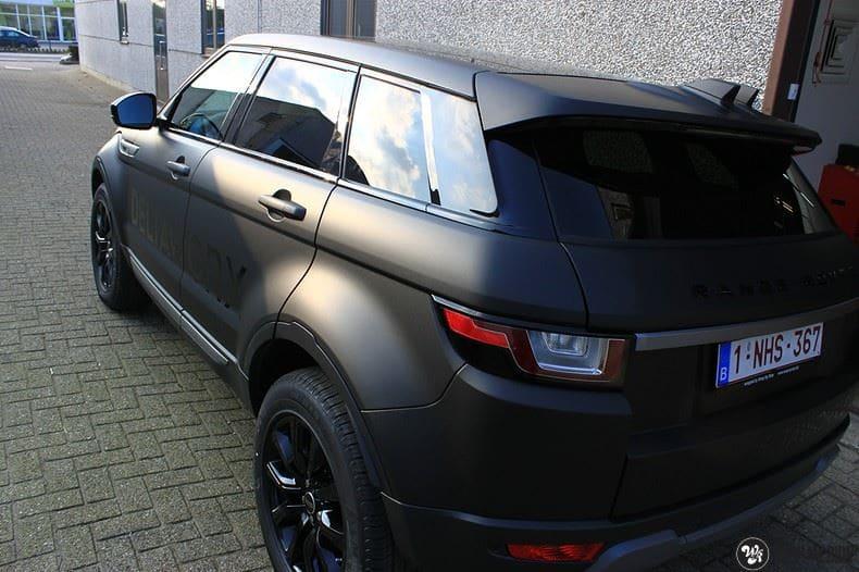 Range Rover Evoque 2016 mat  zwart Deltaworx, Carwrapping door Wrapmyride.nu Foto-nr:8759, ©2020