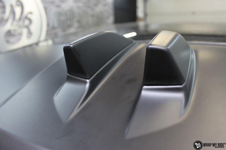 Range Rover Evoque 2016 mat  zwart Deltaworx, Carwrapping door Wrapmyride.nu Foto-nr:8754, ©2020