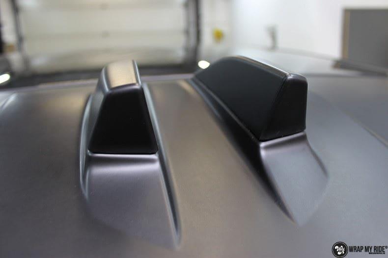Range Rover Evoque 2016 mat  zwart Deltaworx, Carwrapping door Wrapmyride.nu Foto-nr:8753, ©2020