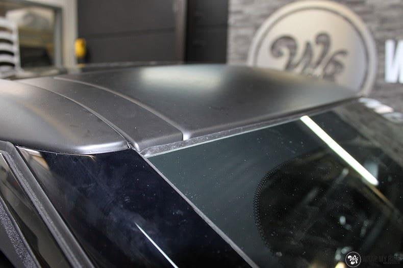 Range Rover Evoque 2016 mat  zwart Deltaworx, Carwrapping door Wrapmyride.nu Foto-nr:8751, ©2020