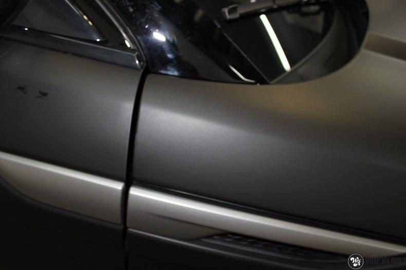 Range Rover Evoque 2016 mat  zwart Deltaworx, Carwrapping door Wrapmyride.nu Foto-nr:8750, ©2020