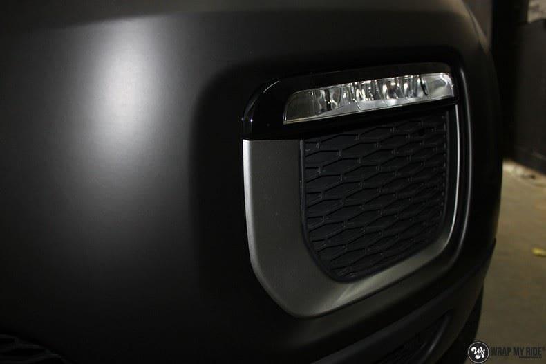 Range Rover Evoque 2016 mat  zwart Deltaworx, Carwrapping door Wrapmyride.nu Foto-nr:8749, ©2020