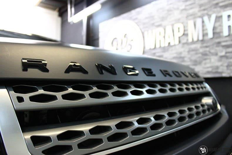 Range Rover Evoque 2016 mat  zwart Deltaworx, Carwrapping door Wrapmyride.nu Foto-nr:8747, ©2020