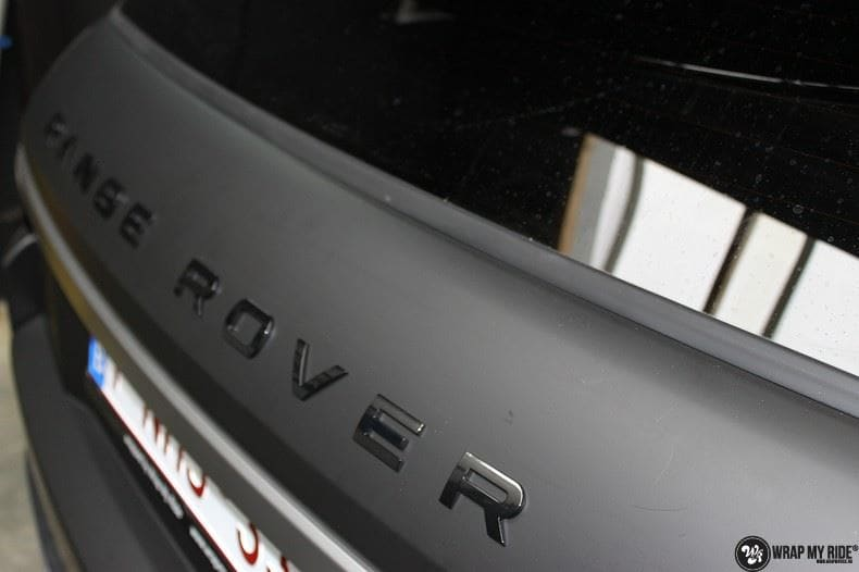 Range Rover Evoque 2016 mat  zwart Deltaworx, Carwrapping door Wrapmyride.nu Foto-nr:8742, ©2020