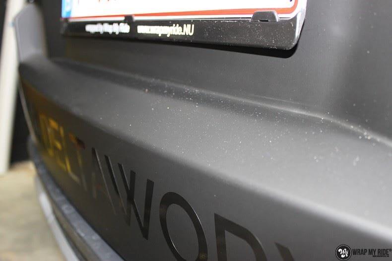 Range Rover Evoque 2016 mat  zwart Deltaworx, Carwrapping door Wrapmyride.nu Foto-nr:8741, ©2020