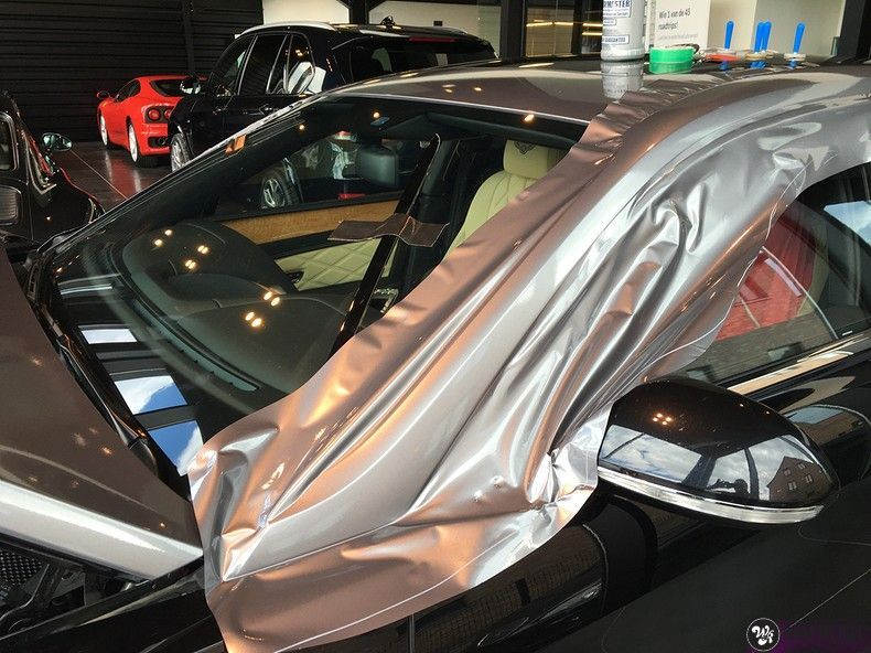 Bentley Flyingspur 2-tone, Carwrapping door Wrapmyride.nu Foto-nr:12454, ©2020