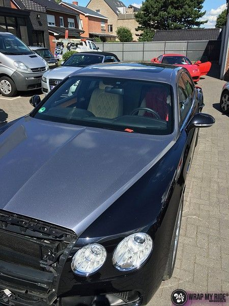 Bentley Flyingspur 2-tone, Carwrapping door Wrapmyride.nu Foto-nr:12449, ©2019