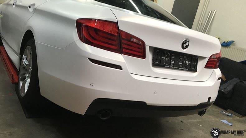 BMW F10 Satin frozen vanilla, Carwrapping door Wrapmyride.nu Foto-nr:9469, ©2021