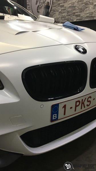 BMW F10 Satin frozen vanilla, Carwrapping door Wrapmyride.nu Foto-nr:9465, ©2021