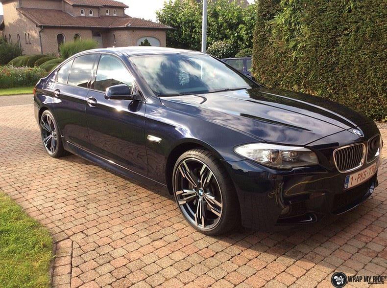 BMW F10 Satin frozen vanilla, Carwrapping door Wrapmyride.nu Foto-nr:9463, ©2021