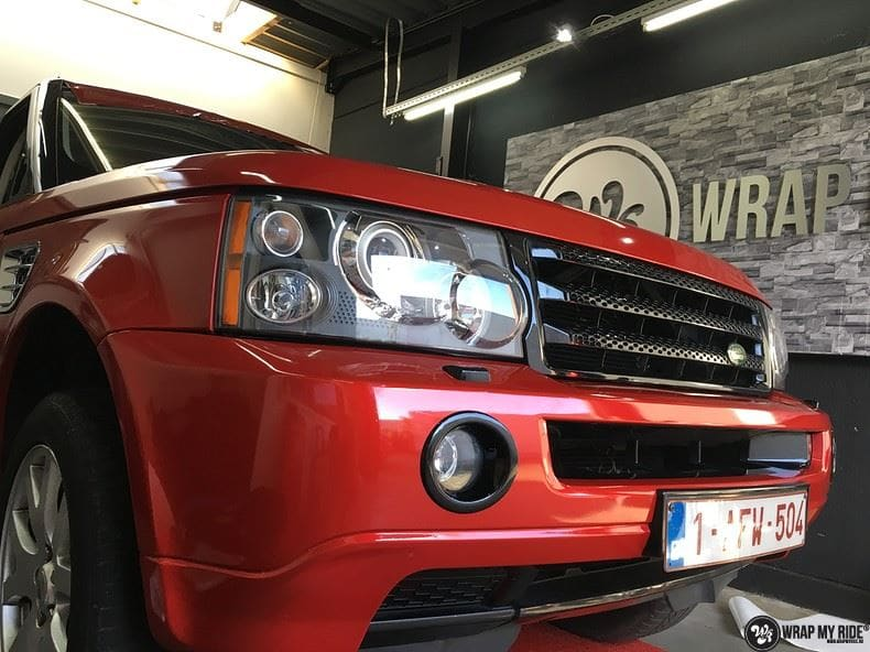 Range Rover Sport Dragon Fire Red, Carwrapping door Wrapmyride.nu Foto-nr:9852, ©2021