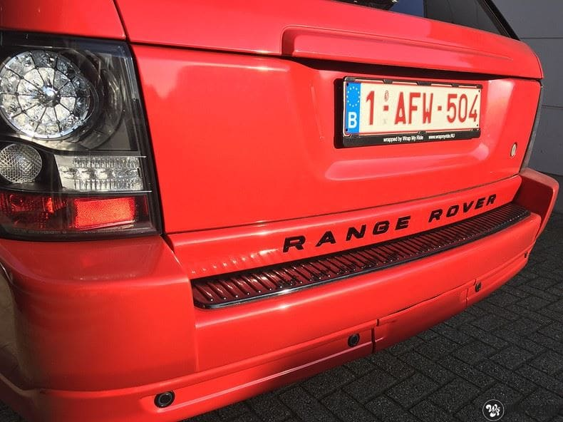 Range Rover Sport Dragon Fire Red, Carwrapping door Wrapmyride.nu Foto-nr:9837, ©2021