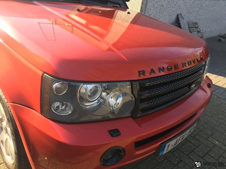 Range Rover Sport Dragon Fire Red, Carwrapping door Wrapmyride.nu Foto-nr:9836, ©2021