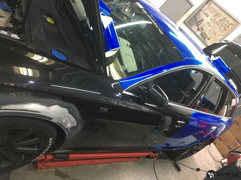 Audi A6 Bleu Chrome, Carwrapping door Wrapmyride.nu Foto-nr:9751, ©2018