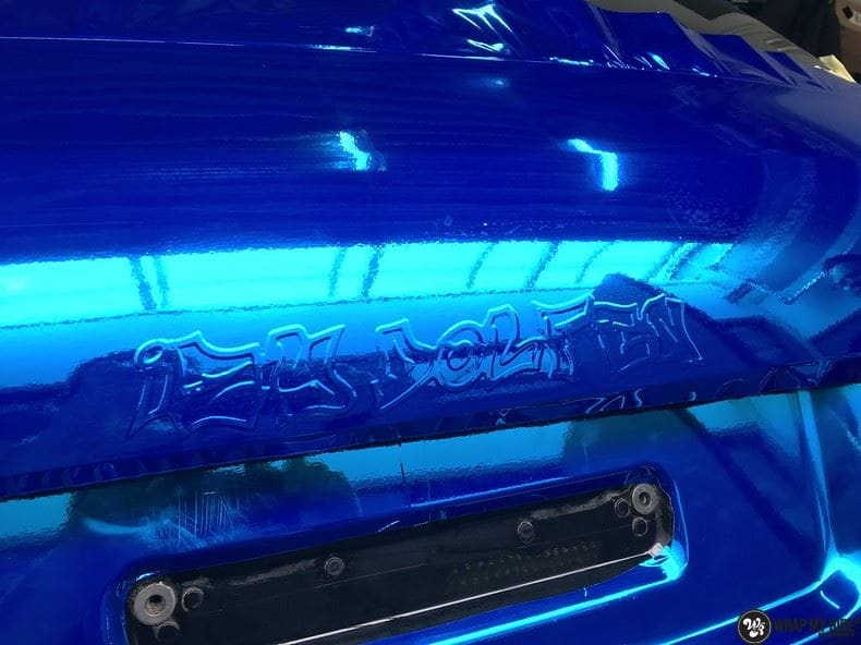 Audi A6 Bleu Chrome, Carwrapping door Wrapmyride.nu Foto-nr:9754, ©2018