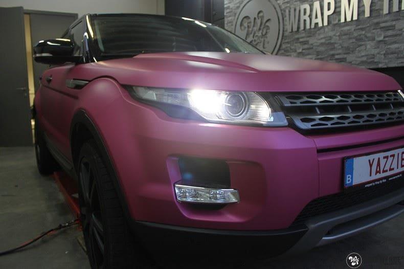 Range Rover Evoque matte metallic pink, Carwrapping door Wrapmyride.nu Foto-nr:8913, ©2021