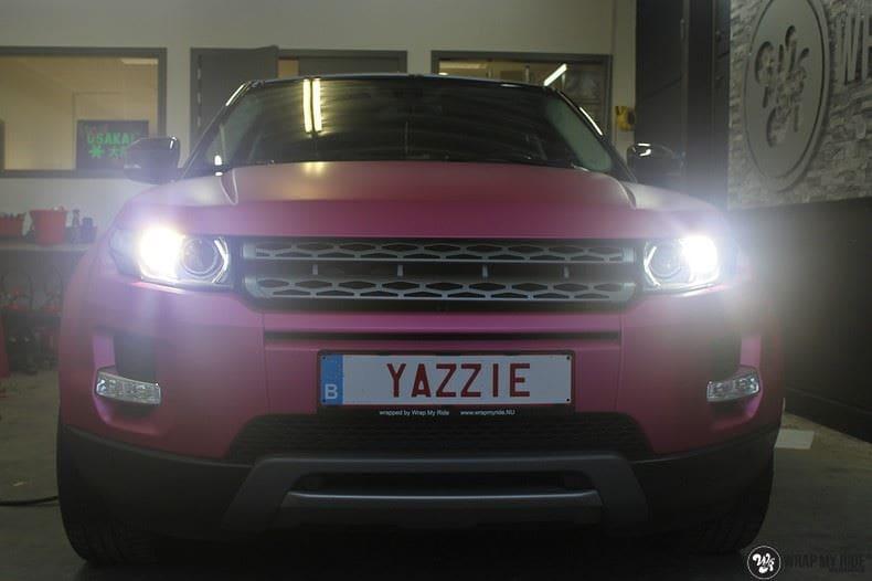 Range Rover Evoque matte metallic pink, Carwrapping door Wrapmyride.nu Foto-nr:8912, ©2020