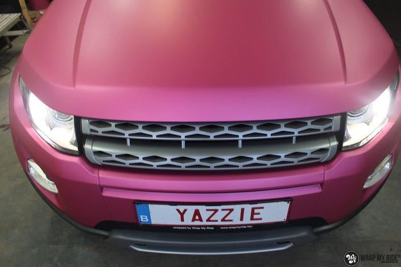 Range Rover Evoque matte metallic pink, Carwrapping door Wrapmyride.nu Foto-nr:8911, ©2021