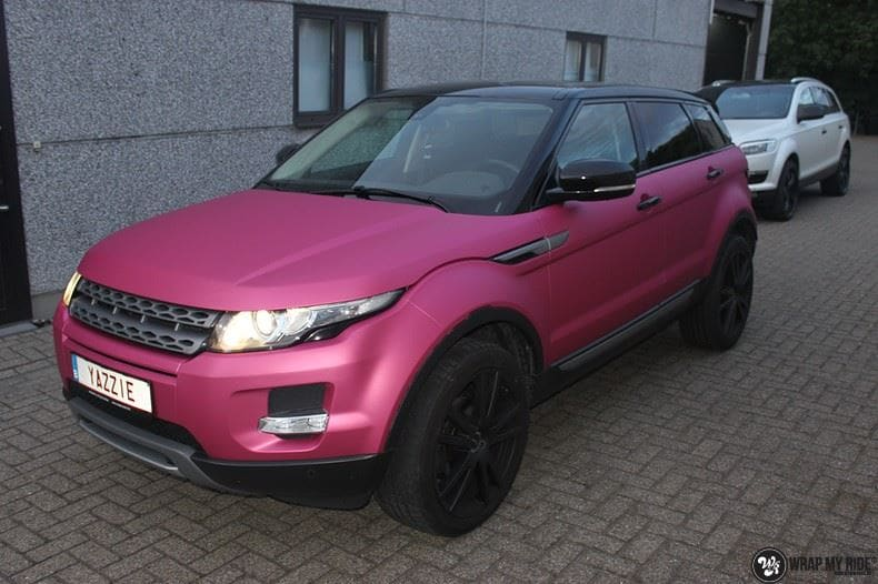 Range Rover Evoque matte metallic pink, Carwrapping door Wrapmyride.nu Foto-nr:8904, ©2021