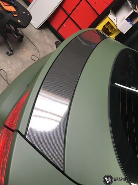 Audi A7 matte military green, Carwrapping door Wrapmyride.nu Foto-nr:9990, ©2020