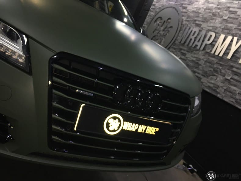 Audi A7 matte military green, Carwrapping door Wrapmyride.nu Foto-nr:10000, ©2021