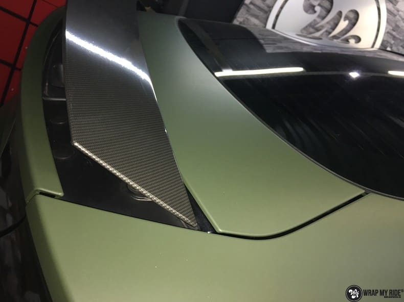 Audi A7 matte military green, Carwrapping door Wrapmyride.nu Foto-nr:10004, ©2018