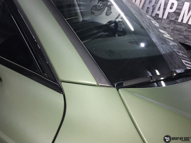 Audi A7 matte military green, Carwrapping door Wrapmyride.nu Foto-nr:10005, ©2020