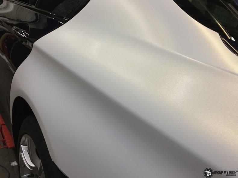 BMW F10 Satin frozen vanilla, Carwrapping door Wrapmyride.nu Foto-nr:9474, ©2021