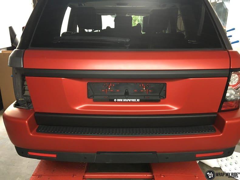 Range Rover Sport in Smoldering Satin Red, Carwrapping door Wrapmyride.nu Foto-nr:10322, ©2020