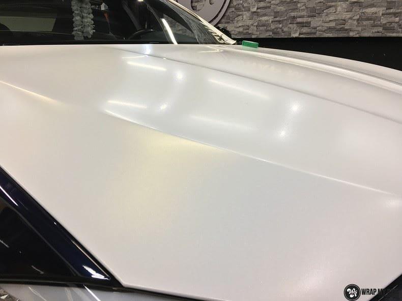 BMW F10 Satin frozen vanilla, Carwrapping door Wrapmyride.nu Foto-nr:9475, ©2021