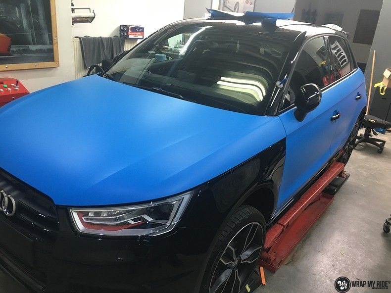 Audi S1 3m matte minerva bleu, Carwrapping door Wrapmyride.nu Foto-nr:11610, ©2021