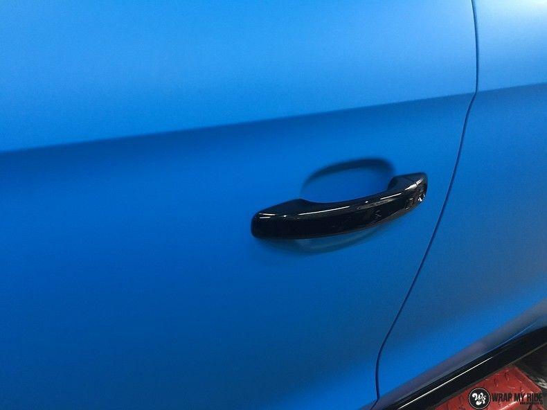 Audi S1 3m matte minerva bleu, Carwrapping door Wrapmyride.nu Foto-nr:11611, ©2020