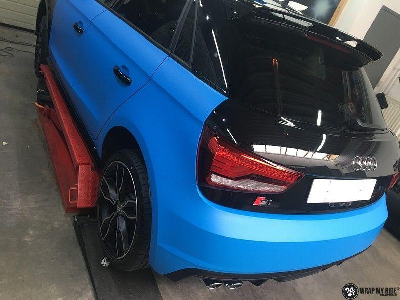 Audi S1 3m matte minerva bleu, Carwrapping door Wrapmyride.nu Foto-nr:11612, ©2021
