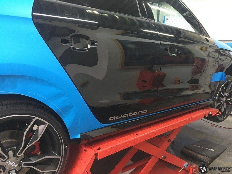 Audi S1 3m matte minerva bleu, Carwrapping door Wrapmyride.nu Foto-nr:11613, ©2020
