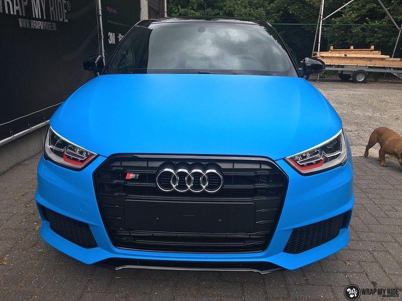 Audi S1 3m matte minerva bleu, Carwrapping door Wrapmyride.nu Foto-nr:11616, ©2020