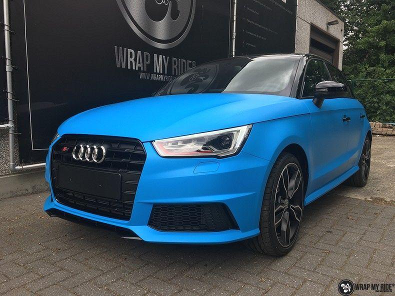 Audi S1 3m matte minerva bleu, Carwrapping door Wrapmyride.nu Foto-nr:11617, ©2021