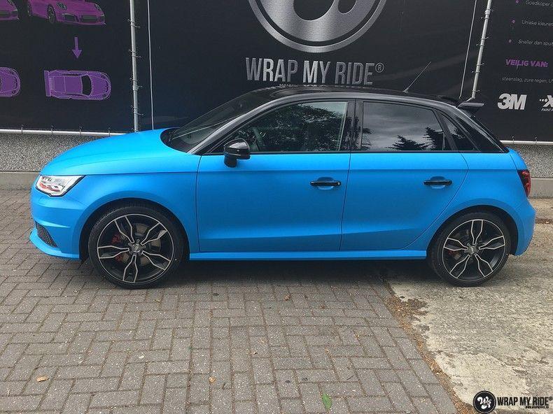 Audi S1 3m matte minerva bleu, Carwrapping door Wrapmyride.nu Foto-nr:11618, ©2020
