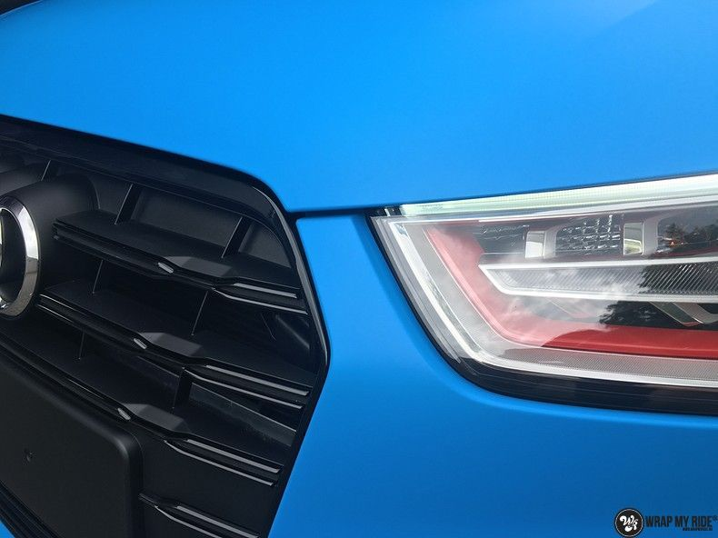 Audi S1 3m matte minerva bleu, Carwrapping door Wrapmyride.nu Foto-nr:11620, ©2020