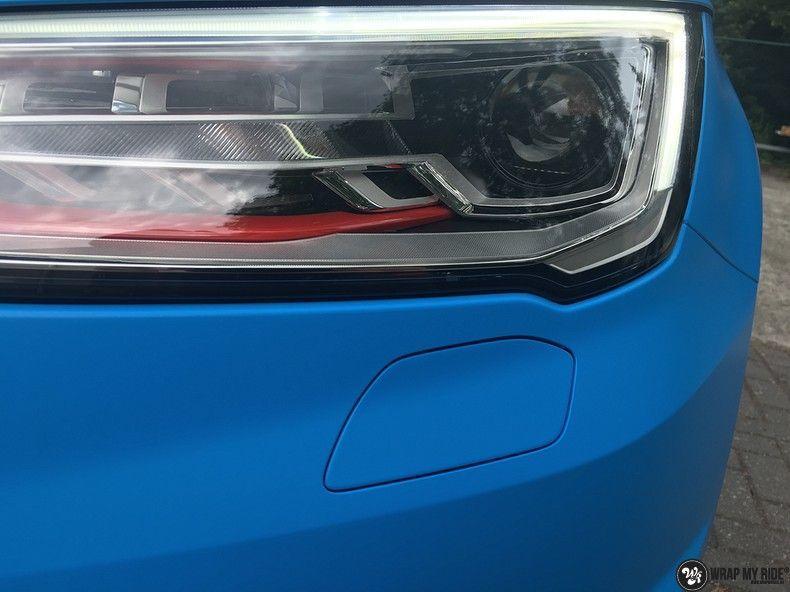 Audi S1 3m matte minerva bleu, Carwrapping door Wrapmyride.nu Foto-nr:11621, ©2020